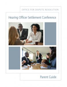 settlement conference